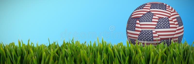 Image composée du football dans des couleurs des Etats-Unis illustration libre de droits