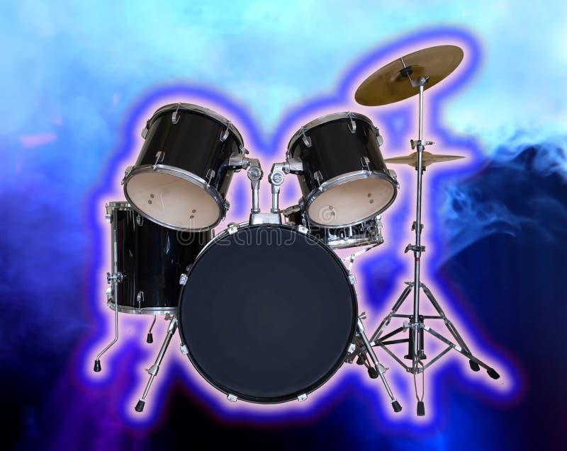 Image conceptuelle d'ensemble de tambour images libres de droits