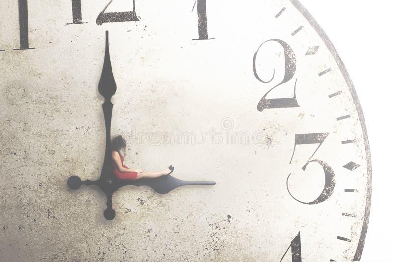 Image conceptuelle d'une femme d'affaires se reposant pendant la coupure photographie stock