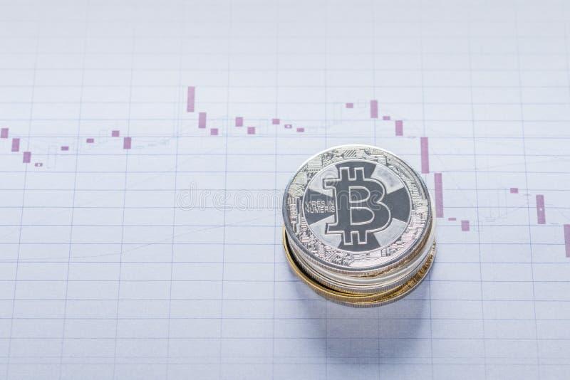 Image conceptuelle de Plundge des prix de Cryptocurrency photographie stock libre de droits