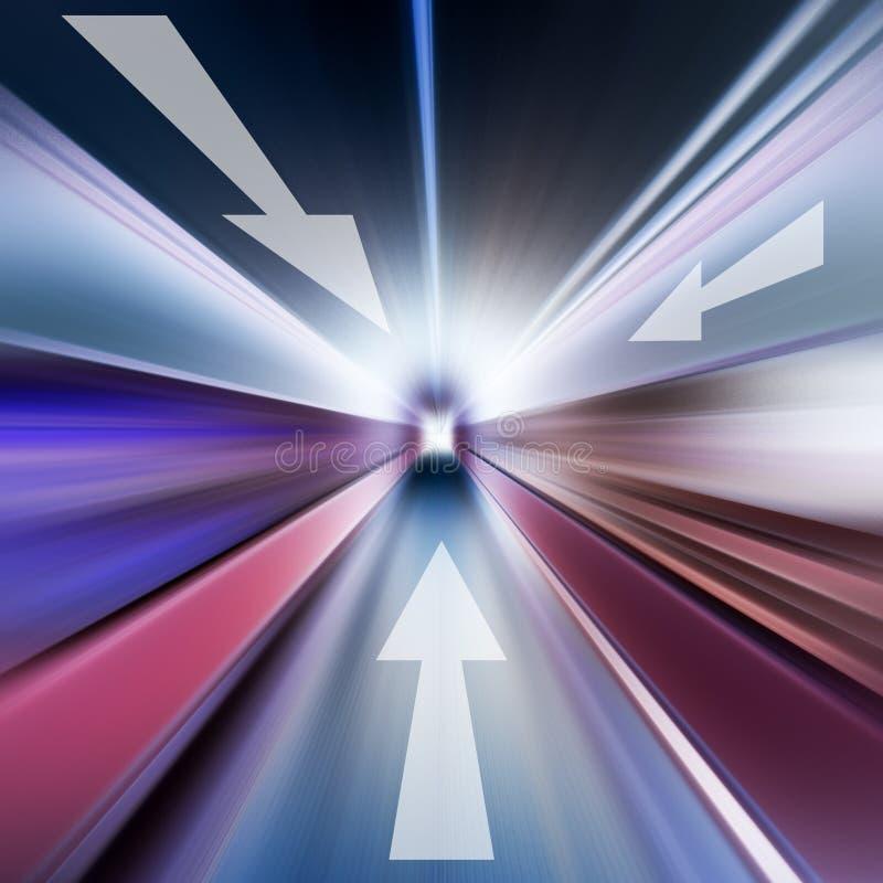 Image conceptuelle de radial et de flèche d'asphalte illustration libre de droits