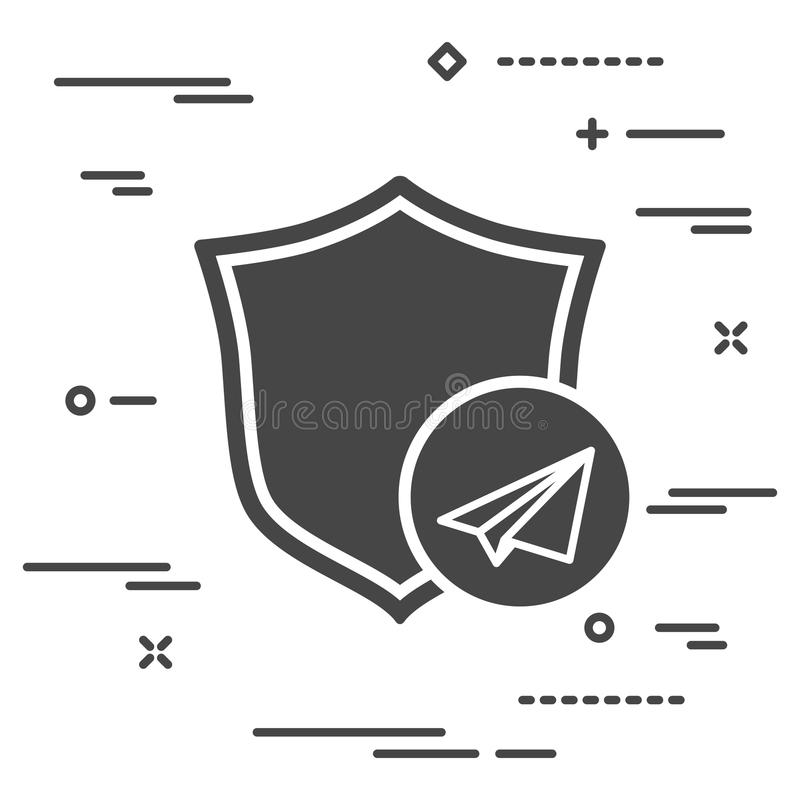 image conceptuelle préservant la confidentialité du correspondenc illustration de vecteur