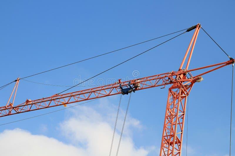 Construction crane with blue sky royalty free stock photos