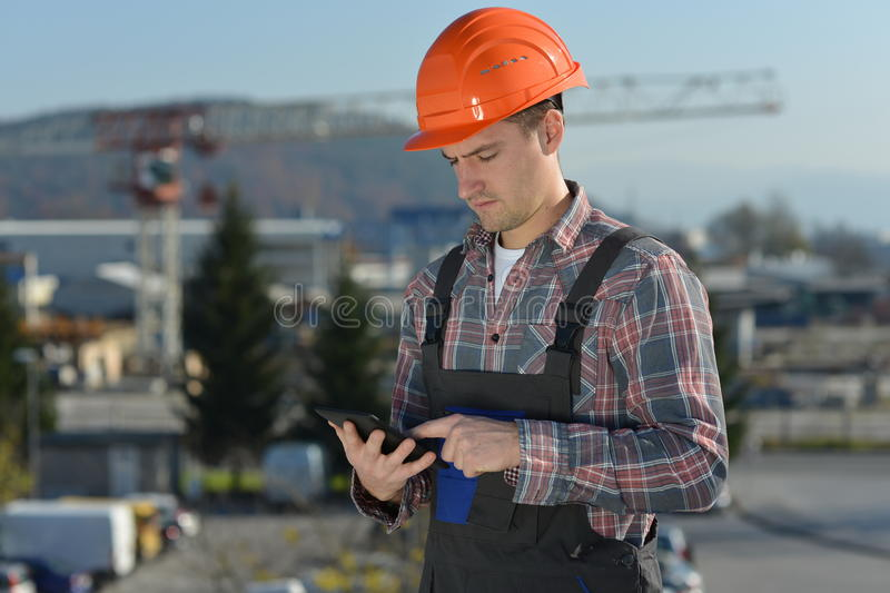 Engineer At Construction Site Stock Image