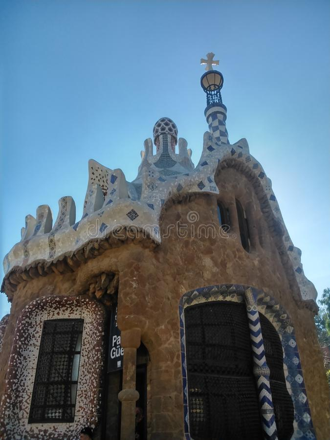 Image of a construction in Parc Güell royalty free stock image