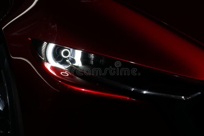 Image of cool car headlight. Shooting location :  Tokyo metropolitan area stock image