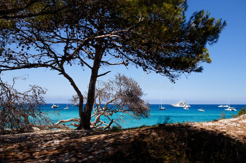Image from Corsica, France, seascape background. Horizontal view. stock images