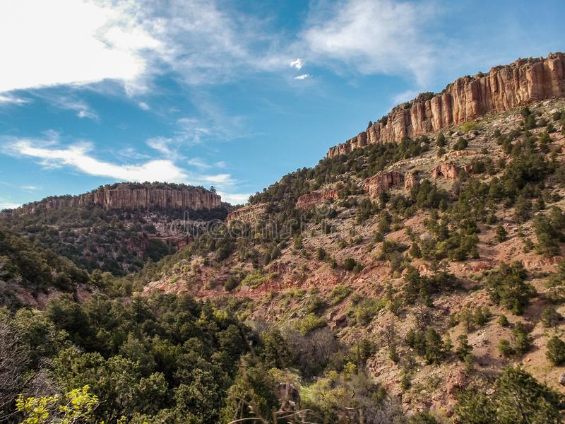Mesa Views on Shelf Road. Image of a couple of the Mesas along Shelf Road in Colorado. Very scenic drive, and one of my personal favorites in this state. Liked royalty free stock photography