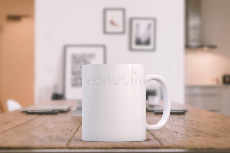 Image courante dénommée de maquette de tasse images libres de droits