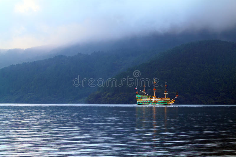 Image courante de lac Hakone, Japon photo stock