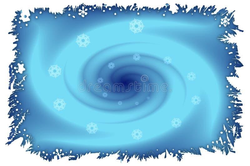 Image courante de vortex de l'hiver illustration libre de droits
