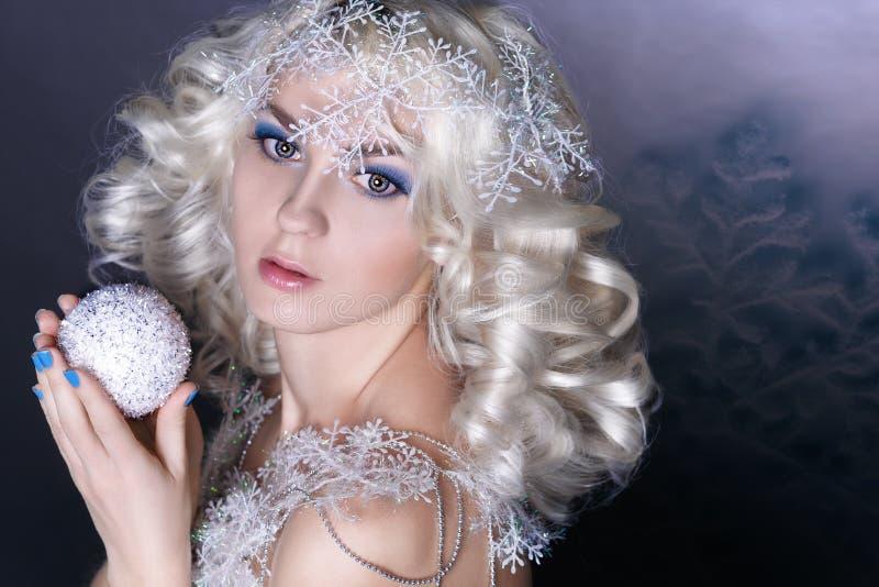 Image créative modèle avec le maquillage gelé image libre de droits