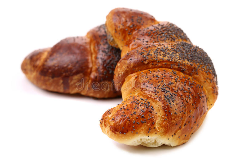 Image Of Croissant With Poppy. Stock Photos