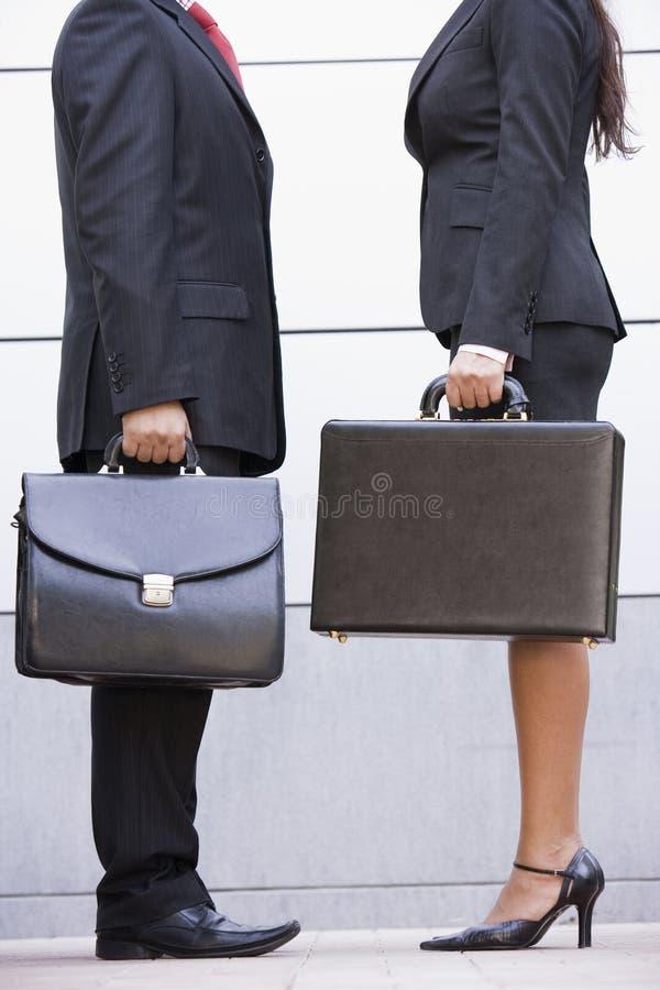 Image cultivée de la réunion d'affaires en dehors du bureau photo libre de droits