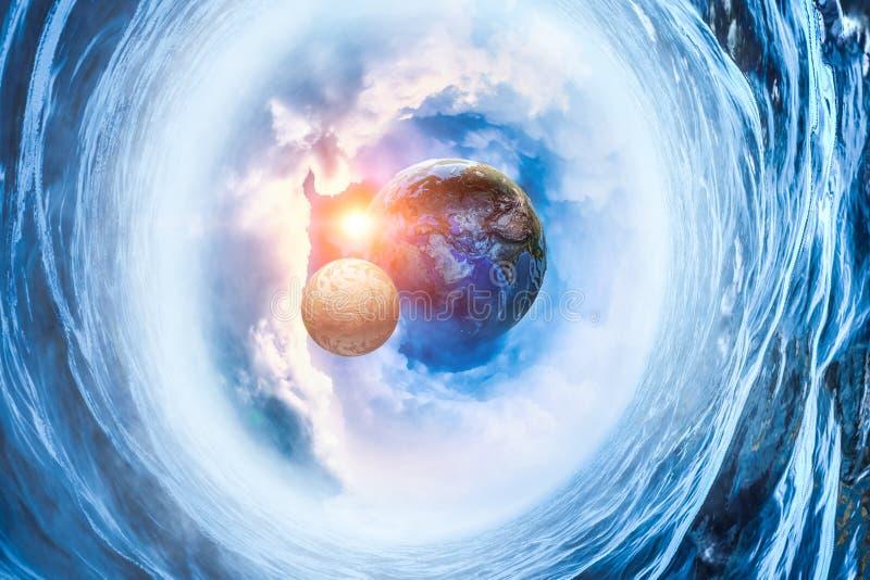 Image d'abrégé sur la terre et lune illustration stock