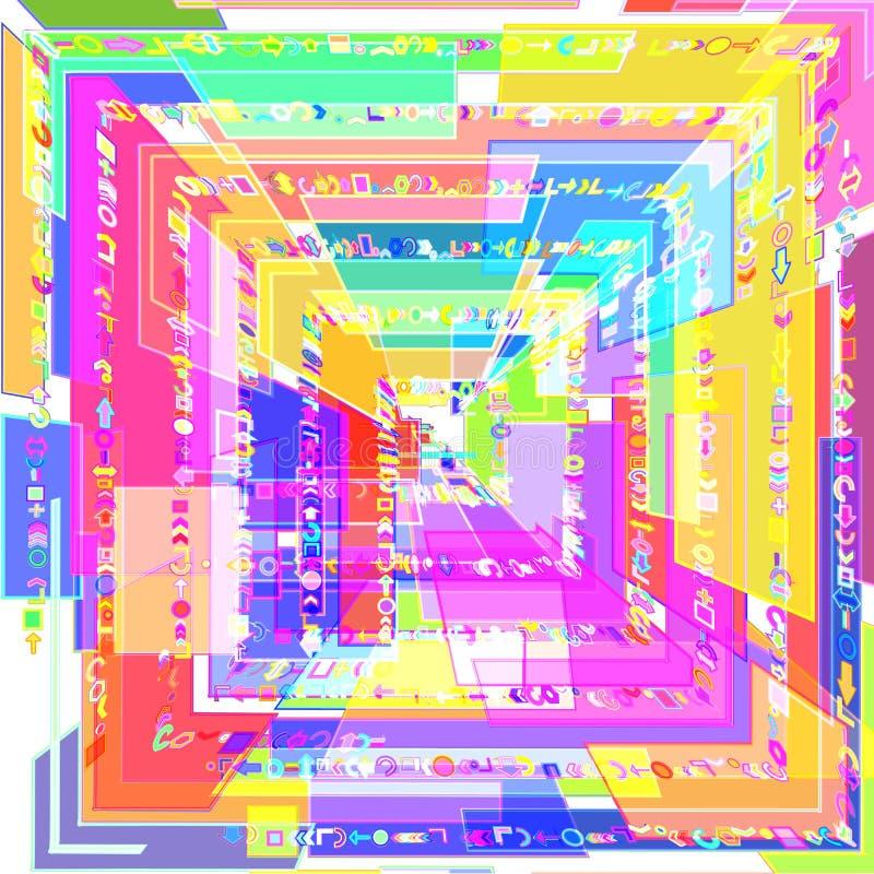 Image 3D abstraite des places color?es illustration de vecteur