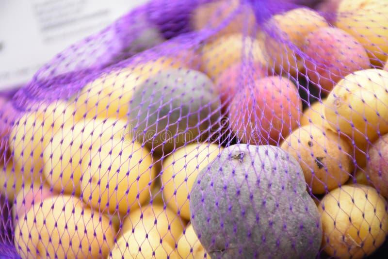 Image d'actions de pomme de terre d'arc-en-ciel photos libres de droits