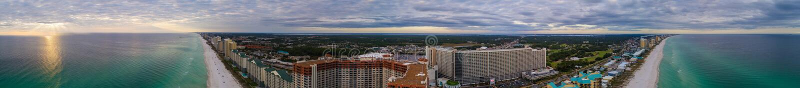 Image d'antenne de FL de plage du Panama photographie stock