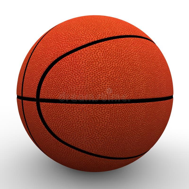 image 3d blanc d'isolement par basket-ball de bille de fond photos stock