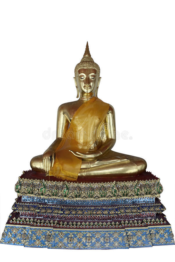 Image d'or de Bouddha en Thaïlande photo stock