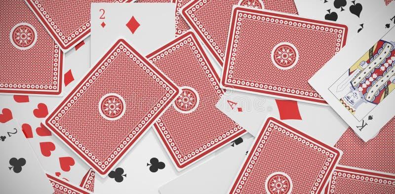 image 3D de jouer des cartes dispersées illustration stock