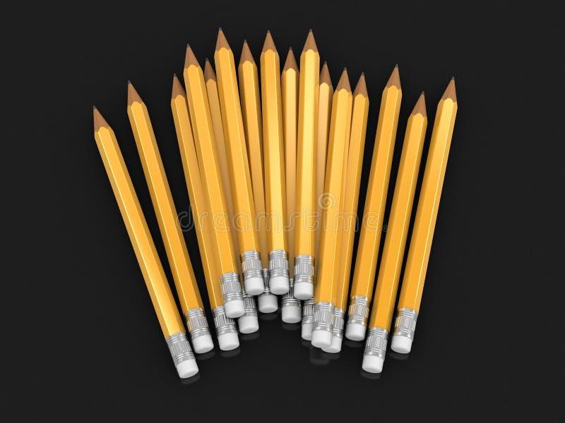 image 3d des crayons illustration de vecteur