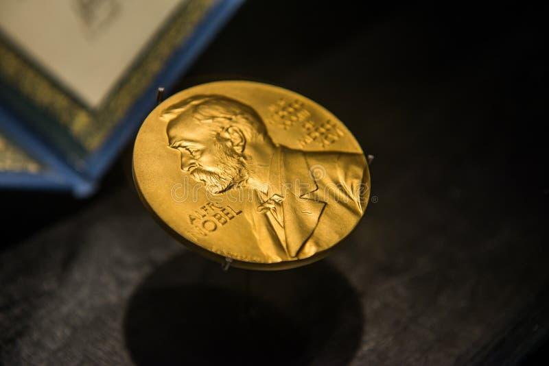 Image d'or du prix Nobel image libre de droits