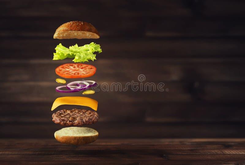 Image d'hamburger savoureux frais photo stock