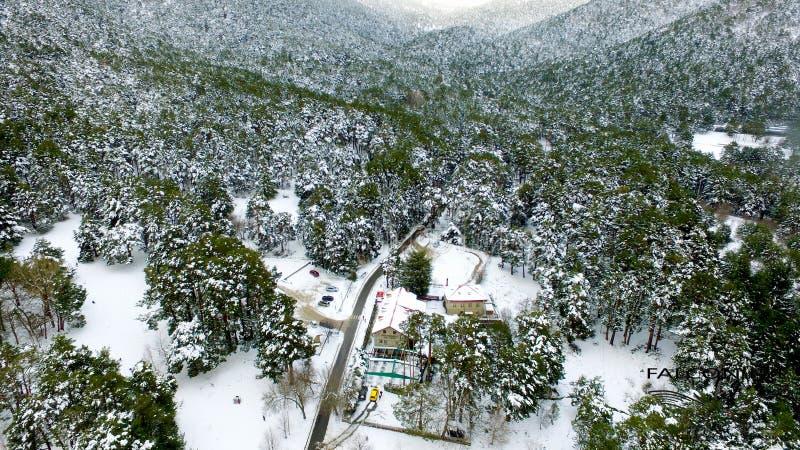 Image d'hiver dans les montagnes photographie stock libre de droits