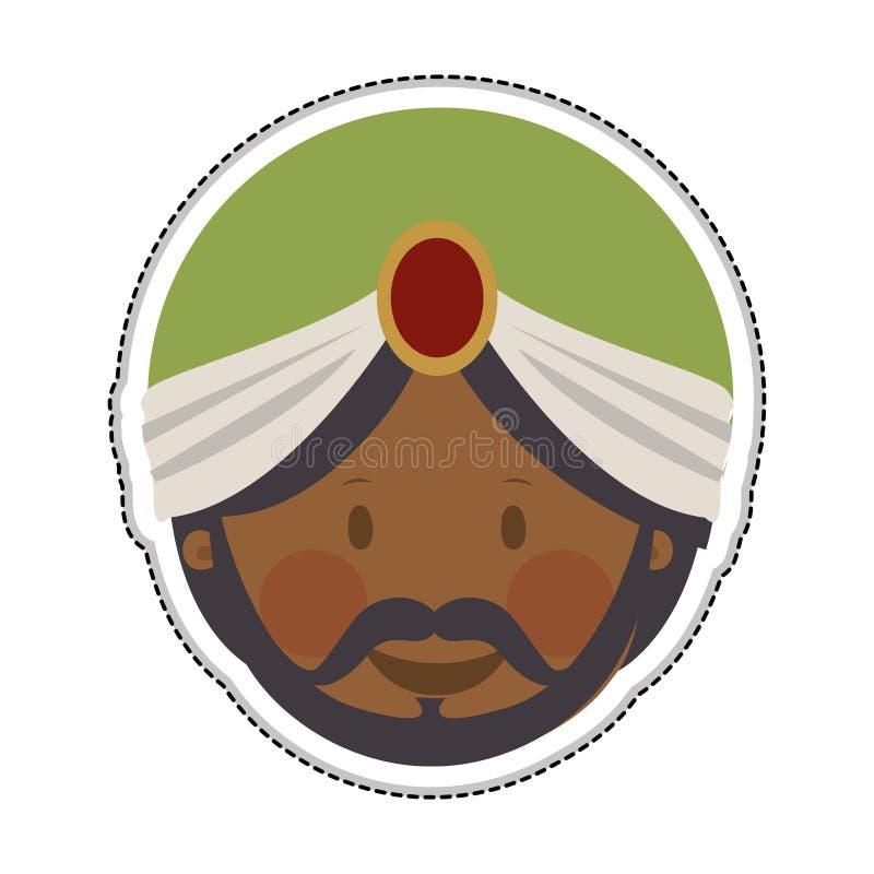 Image d'icône de Rois mages illustration stock