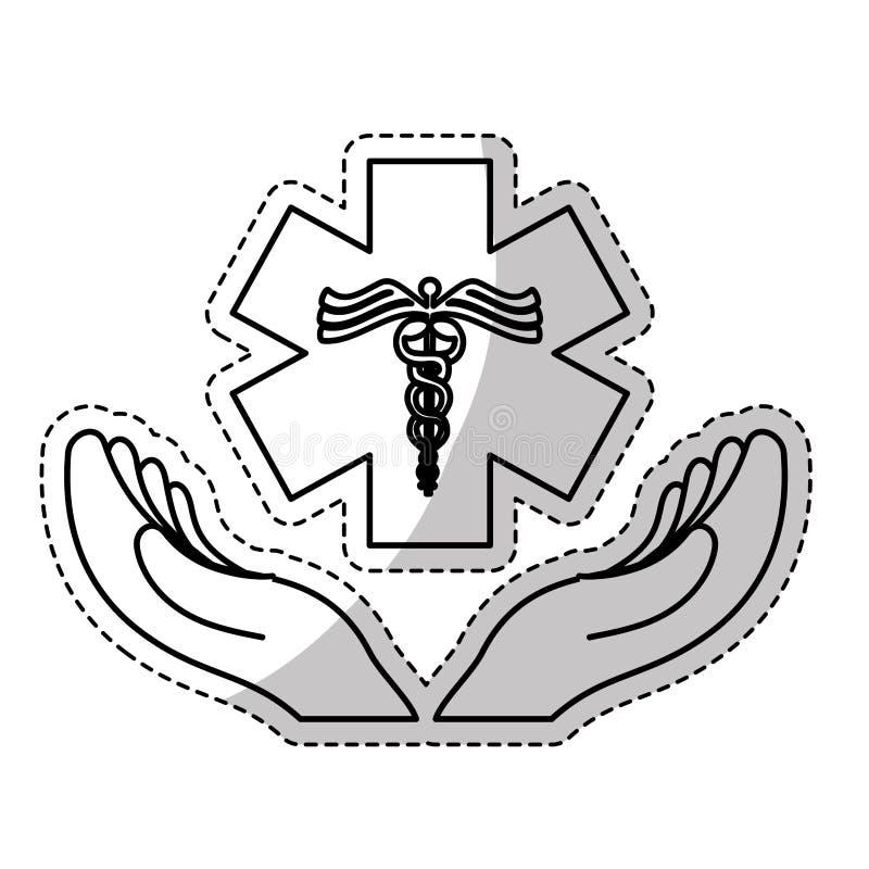 Image d'icône de tige d'Asclepius illustration libre de droits