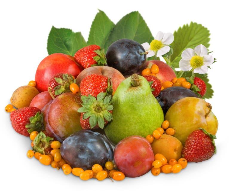 image d'isolement de plan rapproché de beaucoup de fruits photo stock