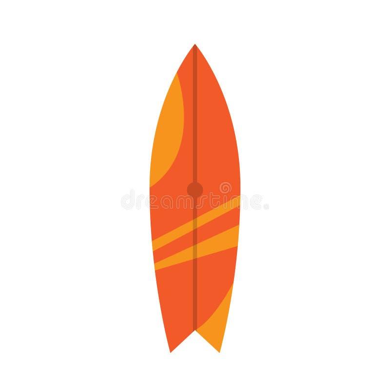 Image d'isolement de planche de surf illustration de vecteur