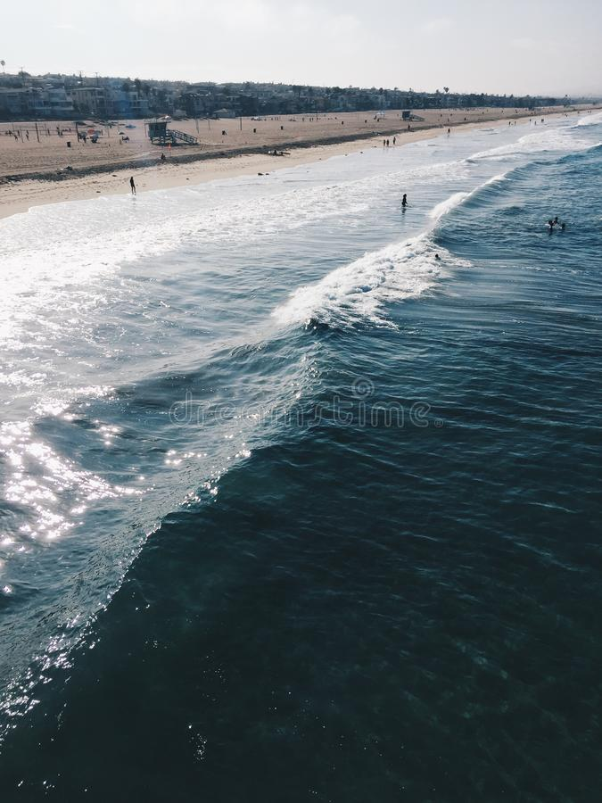Image d'océan de la côte de la Californie images stock