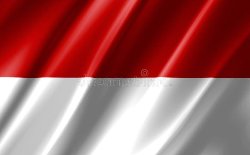 Image d'un drapeau indonésien agitant illustration libre de droits