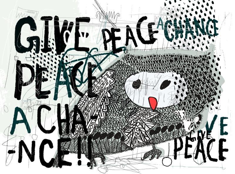 Image d'un hibou illustration stock