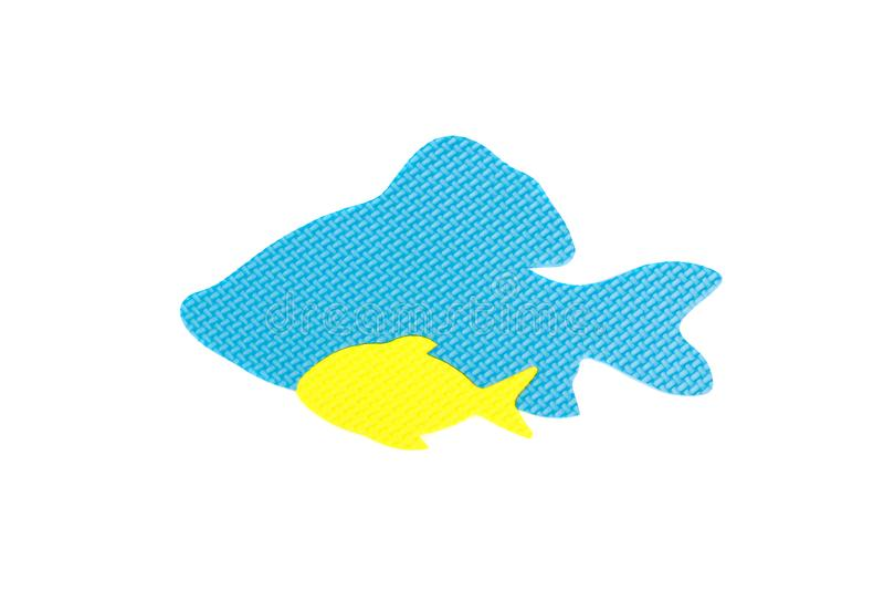 Image d'un poisson, jouet d'isolement sur le fond blanc photographie stock libre de droits