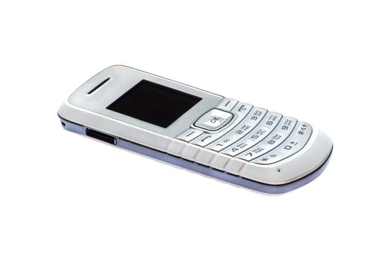 Téléphone portable simple d'isolement sur le blanc images stock