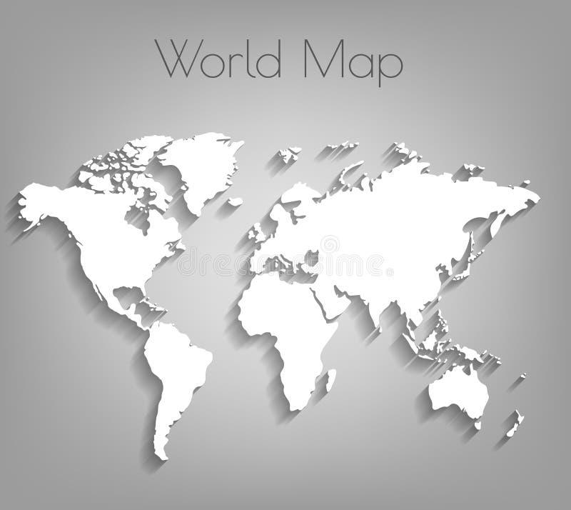 Image d'une carte du monde de vecteur illustration stock