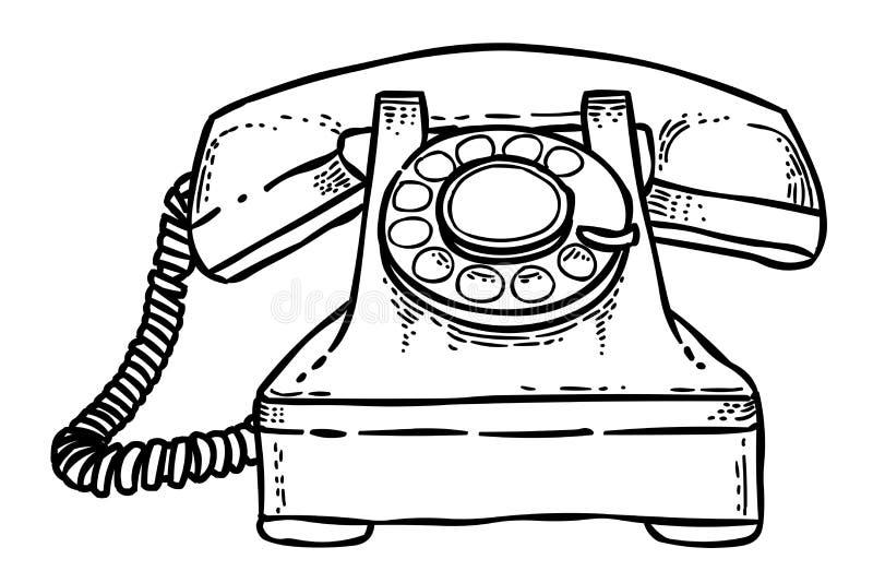 Image De Bande Dessinée D'icône De Téléphone Symbole De Téléphone Illustration De Vecteur