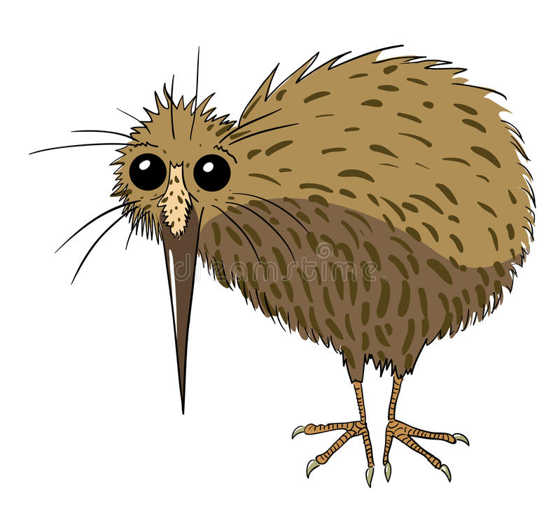Image de bande dessinée d'oiseau de kiwi illustration libre de droits