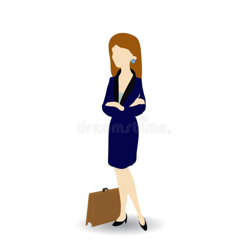 Image de bande dessinée d'une femme d'affaires sûre, illustration de vecteur illustration de vecteur
