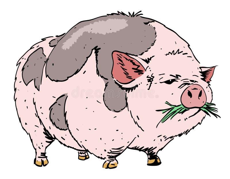 Image de bande dessinée de porc énorme illustration stock