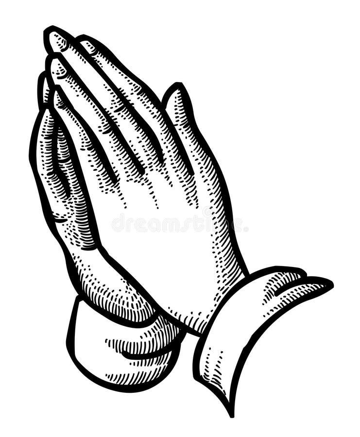 Image de bande dessinée Pray illustration de vecteur