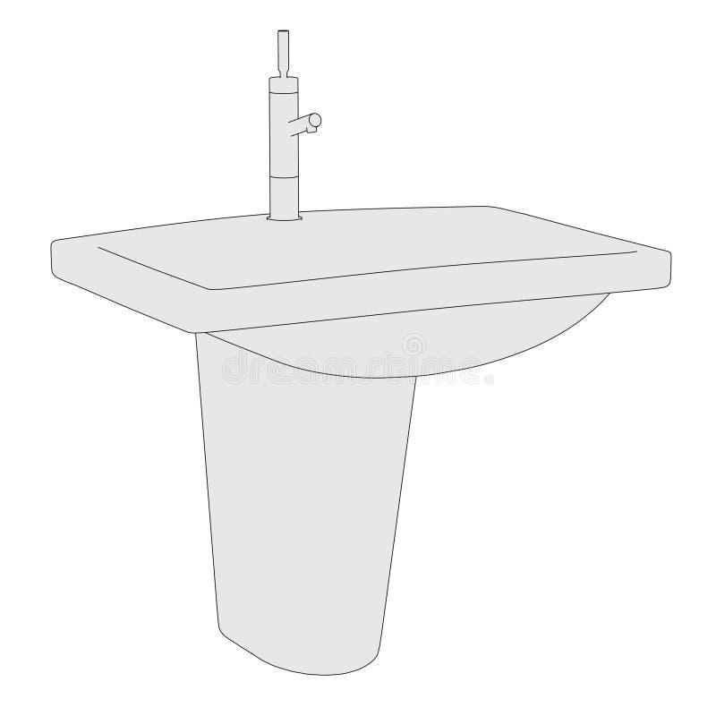 Image de bassin (salle de bains) illustration stock