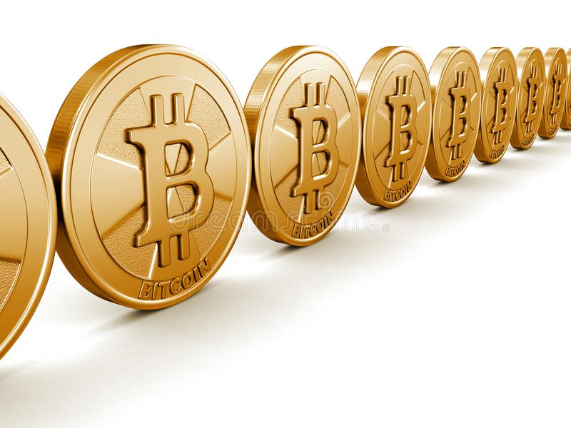 Image de bitcoin d'or illustration libre de droits