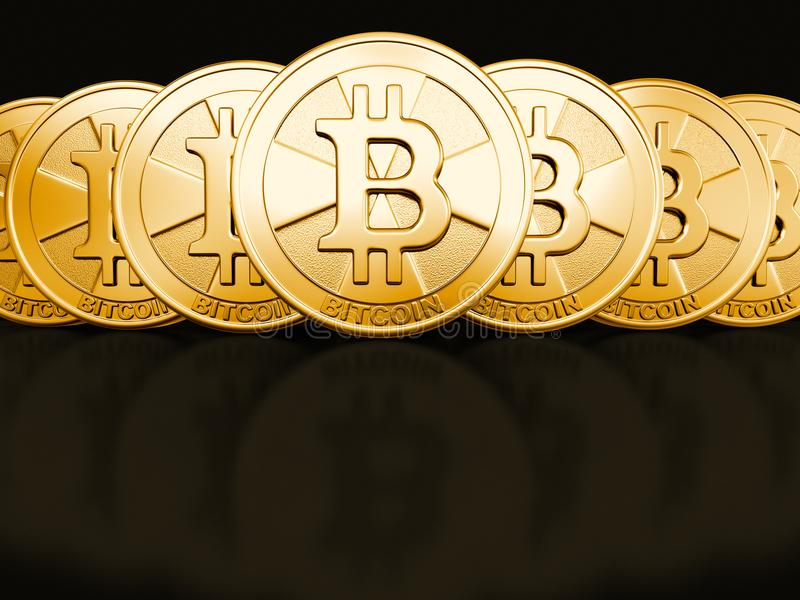 Image de bitcoin d'or illustration libre de droits