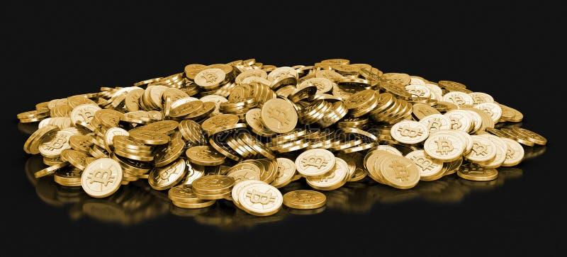 Image de bitcoin d'or illustration de vecteur