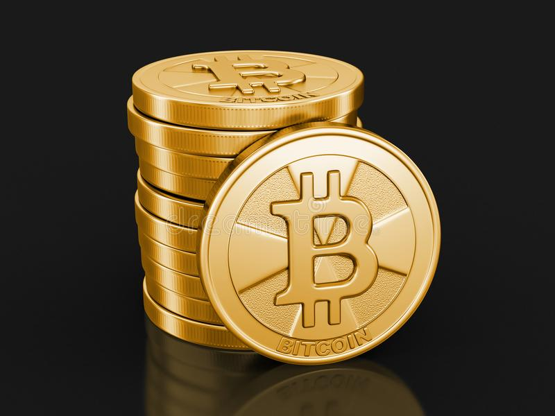 Image de bitcoin d'or illustration stock