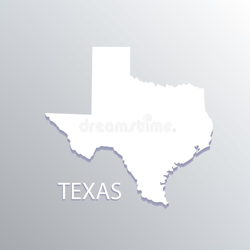 Image de carte blanche d'identification de conception d'illustration de vecteur de carte du Texas illustration de vecteur